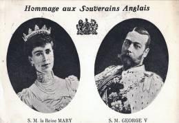 HOMMAGE AUX SOUVERAINS ANGLAIS / SM LA REINE MARY /SM GEORGE V  1914 - Familles Royales