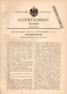 Original Patentschrift - Ch. Gould In Port Chester , USA , 1899 , Elektroden - Walzmaschine , Walzwerk !!! - Tools