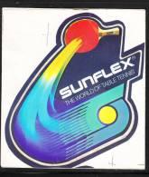 Autoadesivo  SUNFLEX  -  Tennis Tavolo - Ping Pong. Molto Originale - Tennis Tavolo
