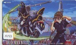 MANGA Télécarte Japon * Cinéma * ANIMATE  (10.147) PHONECARD JAPAN * MOVIE * DUO MAXWELL * GUNDAMWING - Film