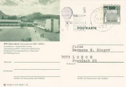 BRD P 99, B 12/91 1.68, Oberstdorf, Gestempelt, Werbestempel: Marl Nat. Ballonwettbewerb 19.9.1968 - Montgolfier