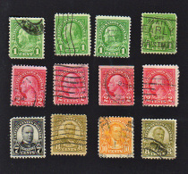 B427 USA 1926 ( 12 Stamps ) ( Sc# 632,34,39,40,42 ) CH & MH - United States