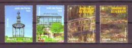2010 FRANCE  LE SALON DU TIMBRES LES JARDINS DE GIVERNY  LES 4 VALEURS NEUF** - Expositions Philatéliques