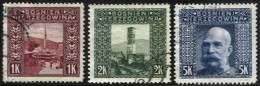 Série Complète De 1906 Oblitérée - 3 Scans - Bosnie-Herzegovine