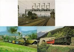 CPM TRAIN - Lot De 3 CPM éditées Par Ernst B. Leutwiler SUISSE (voir Les 2 Scans) - Trains