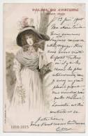 Illustration Yaphe - Palais Du Costume - Projet Félix - Belle Jeune Femme 1810 - 1815 - Ecrite / Timbrée 1900 - Moda