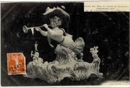 Carte Postale Ancienne Montpellier - Carnaval 1911 - Maquette De Char S.M. L'Entravée - Fête - Montpellier