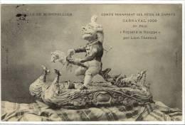 Carte Postale Ancienne Montpellier - Carnaval 1909 - Maquette De Char Riquet à La Houppe, 1er Prix  - Fête - Montpellier