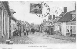 GUISCARD : La Rue De Ham Vers 1908 - CPA Animée - Rare - Guiscard