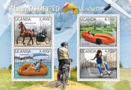 UGANDA 2012 MNH** - Unmotorized Vehicles. Official Issue - Skateboard