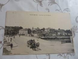 Cpa Saint-mihiel Attelage De Marchand De Vin, Tonnelier Sur Le  Pont Sur La Meuse - Saint Mihiel