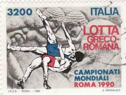 P - 1990 Italia - Campionati Mondiali Roma 1990 - Lotta