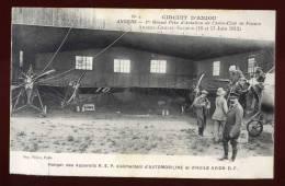 Cpa Du 49  Angers Prix Aviation Aero Club Hangar Des Appareils REP  Automobiline Huile D.F.        BHU4 - Aviateurs