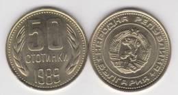 Bulgaria 50 Stotinki 1.989 Niquel-Latón KM#89 SC/UNC   T-DL-10.320 - Bulgaria