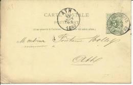 1888  Carte Postale De Flenu-Produits (NIPA + 150) Vers Ath - Postcards [1871-09]