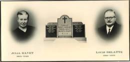 Souvenir Mortuaire - Julia RAVET (1891-1949) Et Louis DELATTE (1891-1950) - Images Religieuses