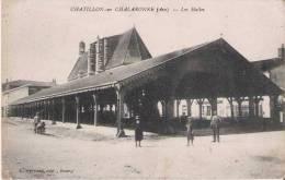 CHATILLON SUR CHALARONNE (AIN) LES HALLES  (ANIMATION)  1914 - Châtillon-sur-Chalaronne