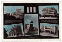 EUROPE SERBIA NIŠ CITY AREAS 5 FOTOS Nr. 2955 POSTCARD 1961. - Serbia