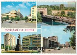 EUROPE SERBIA NIŠ CITY AREAS 4 FOTOS Nr. 663 POSTCARD - Serbia