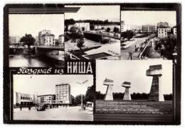 EUROPE SERBIA NIŠ CITY AREAS 5 FOTOS Nr. 5581 POSTCARD 1965. - Serbia