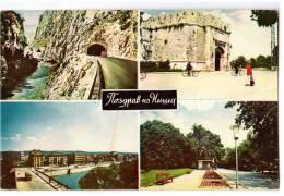 EUROPE SERBIA NIŠ CITY AREAS 4 FOTOS Nr. 190 POSTCARD 1967. - Serbia