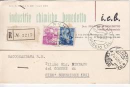 Lotto  Pubblicitaria  Chimica Raccomandata  Archi Reggio Calabria X   Cirò Superiore Cosenza Michelangiolesca L 70 + 15 - 1946-.. République