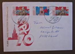 DDR Brief Oktoberrevolution 70 Gel. Jena - Kassel 1987 - Briefe U. Dokumente