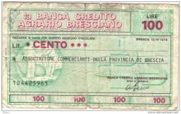 BILLET ITALIE 1976 100 LIRE.   (DB 32) - [ 2] 1946-… : République