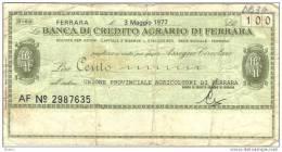 BILLET ITALIE 1977 100 LIRE.   (DB 34) - [ 2] 1946-… : République