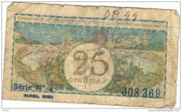 BILLET FRANCE 25 Cts .   (DB 44) - Chambre De Commerce