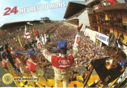 24 Heures Du Mans  -  Audi Sur Le Podium  - Carte Postale - Sport Automobile