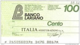 BILLET ITALIE 1977 100 LIRE.   (DB 36) - [ 2] 1946-… : République