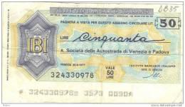 BILLET ITALIE 1977 50 LIRE.   (DB 35) - [ 2] 1946-… : République