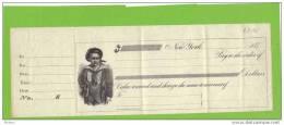 USA CHEQUE VIERGE DES ANNEES 1870. ( DB46) - Etats-Unis