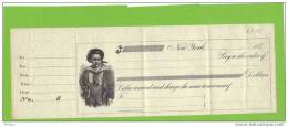 USA CHEQUE VIERGE DES ANNEES 1870. ( DB46) - A Identificar