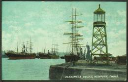 """Alexandra Docks, Newport (Mon)"",   C1905.    (light-house, Ship) - Monmouthshire"