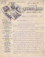 Bruxelles-Egypte- Le Caire - 1904 - Lambert Et Ralli - 2 Pages - Locomotives - Chaudières - Belgium