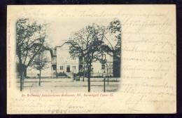 Hungary    Dr. Grünwald Sanatoriuma BUDAPEST  VII Varosligeti Fasor 15   1904 - Ungarn