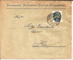 W-089 / Ortsbrief Regensbur 1929 Mit 15 Pfg. Nothilfe (Luebecker Wappen) - Deutschland