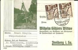 III-319 / Firmen-Rueckantwortkarte 1940 Ex Wittlinen, Post Efringen - Allemagne