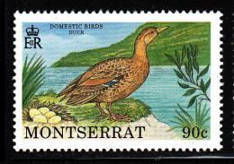 Montserrat MNH Scott #763 90c Duck - Domestic Birds - Montserrat