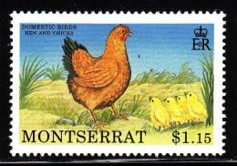 Montserrat MNH Scott #764 $1.15 Hen And Chicks - Domestic Birds - Montserrat