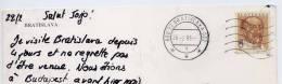 """1996--timbre """" Levoslav Bella"""" Seul Sur Carte Postale BRATISLAVA--beau Cachet Bratislava - Slovaquie"""