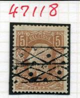 5F  N° 37  Ø Roulette  Cote 925 Euros  Premier Choix  Bon Centrage - 1883 Léopold II