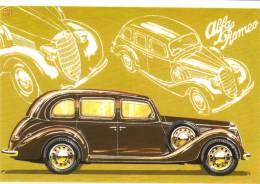 Alfa Romeo 2500  Limousine  -  1939   -  Illustrateur Aldo Brovarone  -  Carte Postale - Turismo