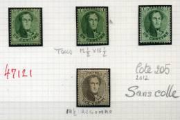 3x 1c NEUF  Et 10c     Cote 205 E  Sans Colle   Différentes Dentelures - 1863-1864 Medallions (13/16)