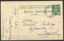 AK YUGOSLAVIA-postal Stationery- VIROVITICA-213 B - 1947 - Postal Stationery