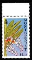 Montserrat MNH Scott #777 $1.15 Shell Ginger - Lilies - Montserrat