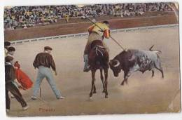 España Tarjeta Postal Corrida Toros  - Postcard AK Cpa (W3_609) - Corridas