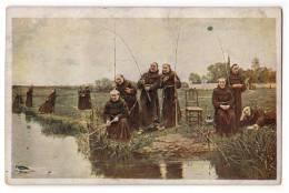 """SPORTS FISHING W.D. SADLER """"THURSDAY"""" J.P.P. Nr. 1058 OLD POSTCARD - Fishing"""